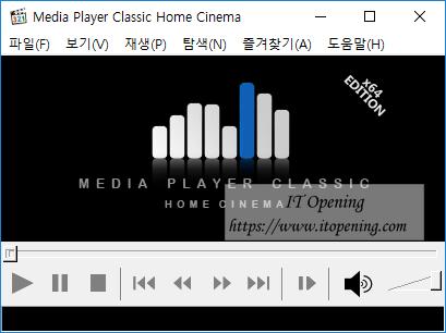 Media Player Classic HOme Cinema 실행모습